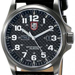 LUMI-NOX-1921-Reloj-de-pulsera-Hombre-Cuero-color-Negro-0