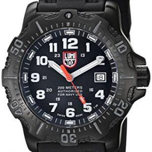 LUMI-NOX-4221-Reloj-de-pulsera-Hombre-Silicona-color-Negro-0
