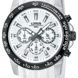 Lorus-RT319BX9-Reloj-con-correa-de-acero-para-hombre-color-blanco-gris-0