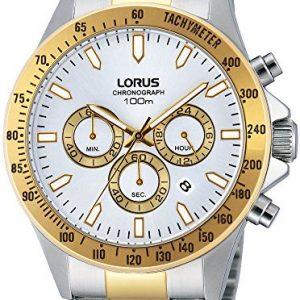 Lorus-RT374DX9-Reloj-con-correa-de-acero-para-hombre-color-blanco-gris-0