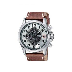 Luminox-1869-Reloj-para-hombres-correa-de-cuero-color-marrn-0