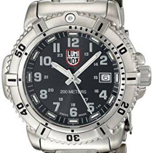 Luminox-7252-Reloj-de-caballero-de-cuarzo-correa-de-acero-inoxidable-color-plata-0