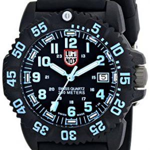 Luminox-Colormark-Series-blue-Reloj-analgico-de-mujer-de-cuarzo-con-correa-negra-sumergible-a-200-metros-0