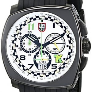 Luminox-Hombre-1147-Tony-Kanaan-Edition-Analog-Display-reloj-negro-de-cuarzo-analgico-0
