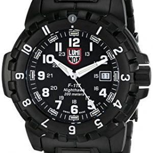 Luminox-LU6402-F-117-Reloj-de-caballero-de-cuarzo-correa-de-acero-inoxidable-color-negro-0