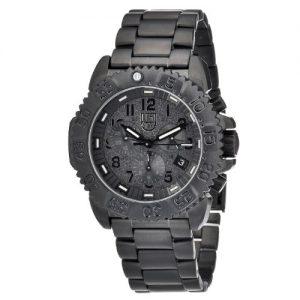 Luminox-Reloj-de-pulsera-XL-Crongrafo-Cuarzo-revestimiento-de-acero-inoxidable-3182-Bo-0