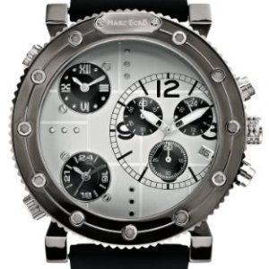Marc-Ecko-M21587G1-Reloj-analgico-para-caballero-de-silicona-Resistente-al-agua-plateado-0