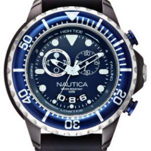 Nautica-A32600G-Reloj-analgico-de-cuarzo-para-hombre-correa-de-silicona-color-negro-0