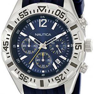 Nautica-N17667G-NST-402-para-hombre-japons-analgico-de-cuarzo-pantalla-azul-reloj-0