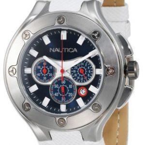 Nautica-N25510G-Reloj-para-hombres-correa-de-goma-color-blanco-0