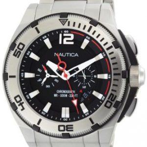 Nautica-N31517G-Reloj-para-hombres-correa-de-acero-inoxidable-color-plateado-0