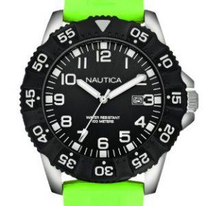 Nautica-Reloj-Analgico-de-Cuarzo-para-Hombre-correa-de-Silicona-color-Verde-0
