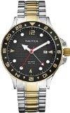 Nautica-del-meridiano-de-Greenwich-de-dos-tonos-reloj-de-pulsera-de-los-hombres-N24520G-0