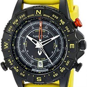 Nautica-para-hombre-46-mm-Amarillo-Banda-De-Goma-Carcasa-de-acero-cuarzo-esfera-de-color-negro-reloj-analgico-nad21000g-0
