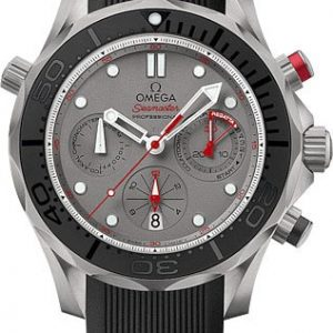 Omega-Seamaster-Buzo-300-Crongrafo-Automtico-Gris-Dial-Negro-Goma-Hombres-Reloj-21292445099001-0