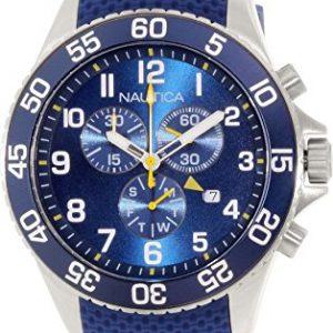 Para-hombre-Nautica-NAD15501G-azul-reloj-infantil-de-cuarzo-de-silicona-Swiss-0