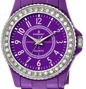 Radiant-RA182204-Reloj-con-correa-de-caucho-para-mujer-color-morado-gris-0