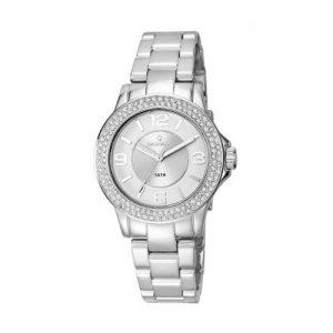 Radiant-RA232203-Reloj-con-correa-de-caucho-para-mujer-color-plateado-gris-0