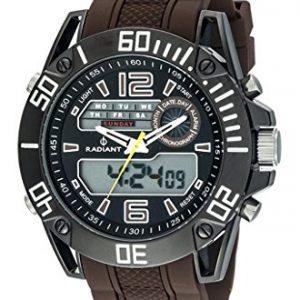 Ref-RA312602-Reloj-Radiant-Caballero-analgico-digital-crono-calendario-alarma-luz-caja-de-acero-correa-de-caucho-marrn-garanta-2-aos-0