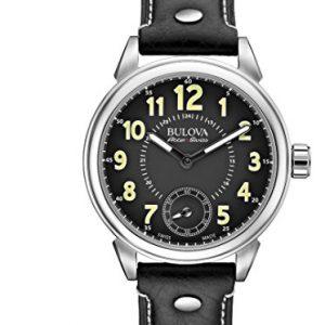 Reloj-Mecnico-Bulova-Para-Hombre-Con-Negro-Analogico-Y-Negro-Cuero-63A120-0