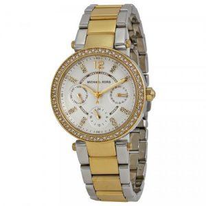Reloj-Michael-Kors-Parker-MK6055-Mujer-Acero-Plateado-Crongrafo-0
