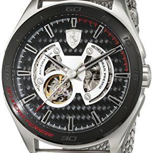 Scuderia-Ferrari-OROLOGI-Gran-Premio-Reloj-de-pulsera-analgico-automtico-para-hombre-acero-inoxidable-0830349-0