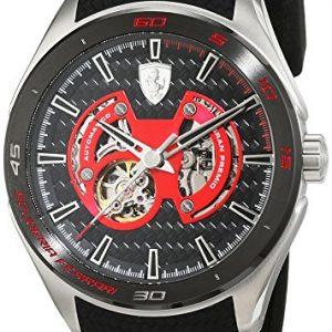 Scuderia-Ferrari-OROLOGI-Gran-Premio-Reloj-de-pulsera-analgico-automtico-para-hombre-silicona-0830348-0