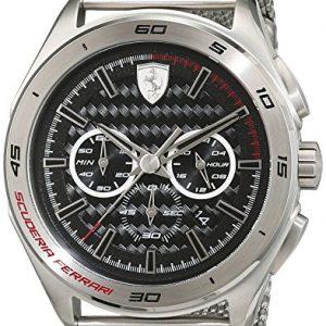 Scuderia-Ferrari-OROLOGI-Hombre-Reloj-Gran-Premio-de-pulsera-analgico-cuarzo-acero-inoxidable-0830347-0