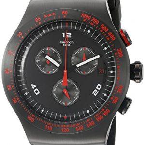 Swatch-Reloj-para-caballero-de-silicona-negro-0