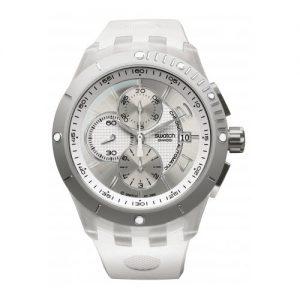 Swatch-Reloj-unisex-de-cuarzo-correa-de-caucho-color-blanco-0