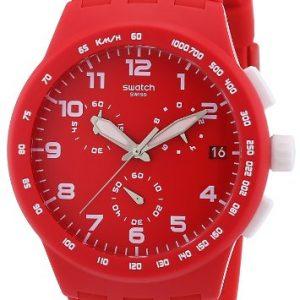 Swatch-SUSR400-Reloj-crongrafo-de-cuarzo-unisex-correa-de-silicona-color-rojo-0