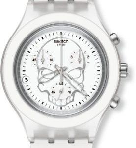 Swatch-SVCW4000AG-Reloj-analgico-de-caballero-de-cuarzo-con-correa-de-aluminio-blanca-0