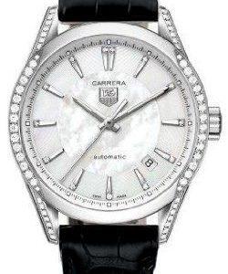 TAG-Heuer-Reloj-de-pulsera-mujer-piel-color-negro-0