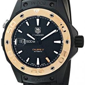 TAG-Heuer-de-hombre-WAJ2182-FT6015-Aquaracer-pantalla-analgica-Swiss-Reloj-automtico-negro-0