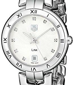 Tag-Heuer-Mujer-WAT1311-BA0956-Link-analgico-pantalla-Cuarzo-Reloj-color-negro-y-plata-0