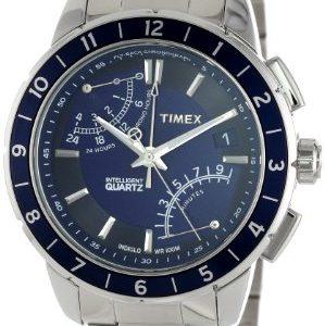 Timex-Caballero-T2N501-Intelligent-Quartz-SL-Series-Fly-Back-cron-grafo-Blue-Dial-Bracelet-Reloj-0