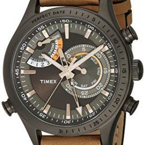 Timex-Coleccin-tw2p72500dh-Intelligent-Quartz-de-Hombre-Reloj-con-Banda-de-color-marrn-0