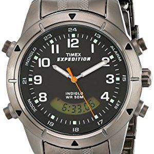 Timex-Expedition-Reloj-de-cuarzo-para-hombres-correa-de-acero-inoxidable-color-negro-0
