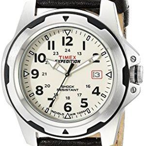 Timex-Quarz-T49261PF-Reloj-de-caballero-de-cuarzo-correa-de-piel-color-marrn-con-luz-0