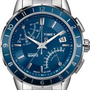 Timex-T2N501AU-Reloj-analgico-de-caballero-de-cuarzo-con-correa-de-acero-inoxidable-plateada-0