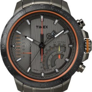 Timex-T2P273D7-Reloj-analgico-de-cuarzo-para-hombre-con-correa-de-acero-inoxidable-color-negro-0