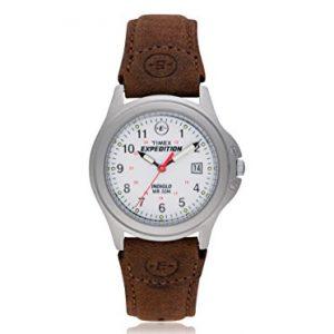 Timex-T445634E-Reloj-analgico-de-mujer-de-cuarzo-con-correa-de-piel-marrn-sumergible-a-50-metros-0