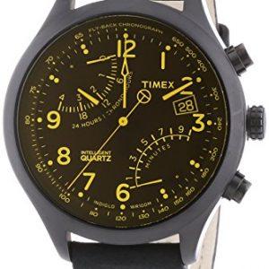 Timex-Timex-Fly-back-Chronograph-mit-IQ-Reloj-de-cuarzo-para-hombre-correa-de-cuero-color-negro-0