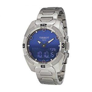 Tissot-Hombre-Gris-Titanio-Pulsera-Case-Zafiro-Esfera-Azul-de-Cuarzo-suizo-reloj-t0914204404100-0