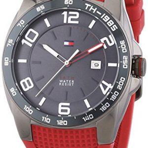 Tommy-Hilfiger-0-Reloj-de-cuarzo-para-hombre-con-correa-de-goma-color-rojo-0