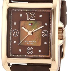 Tommy-Hilfiger-1781245-Reloj-de-cuarzo-para-mujer-correa-de-silicona-color-marrn-0