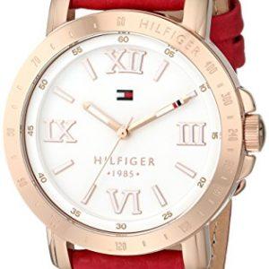 Tommy-Hilfiger-1781439-Reloj-para-mujeres-correa-de-cuero-color-rojo-0