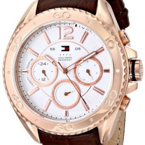 Tommy-Hilfiger-1791031-Mens-Grant-White-Dial-Rose-Gold-Steel-Brown-Leather-Strap-Watch-0