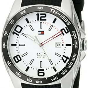 Tommy-Hilfiger-Caballero-1790884-Sport-Stainless-Steel-Bezel-Black-Silicon-Strap-Reloj-0