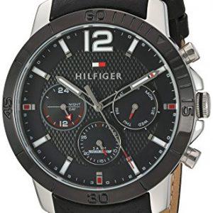 Tommy-Hilfiger-hombres-de-cuarzo-acero-inoxidable-y-reloj-automtico-de-piel-color-negro-modelo-1791268-0